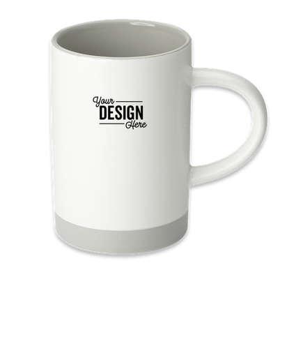 15 oz. Lotus Two-Tone Ceramic Mug - White