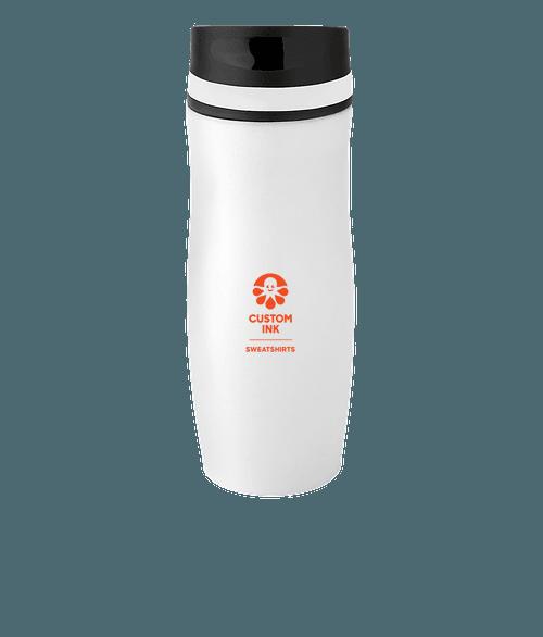 Full Color 14 oz. Persona Wave Trail Vacuum Insulated Tumbler - White / White