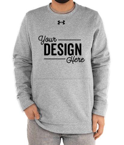 Under Armour Hustle Pocket Crewneck Sweatshirt - True Grey Heather / Black