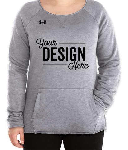 Under Armour Women's Hustle Pocket Crewneck Sweatshirt - True Grey Heather / Black