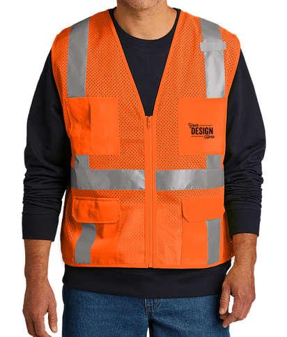 CornerStone Class 2 Mesh 6-Pocket Safety Vest - Safety Orange