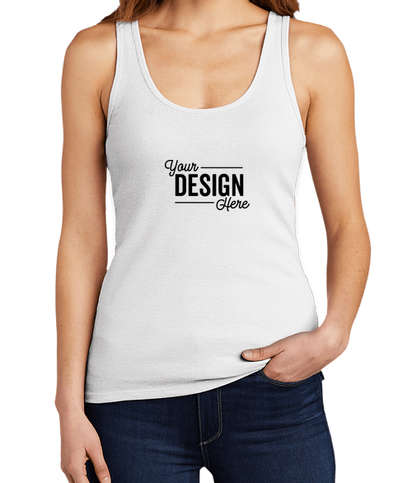 District Women's V.I.T. Ribbed Tank - White