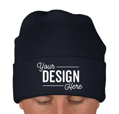Yupoong Solid Cuff Beanie - Navy