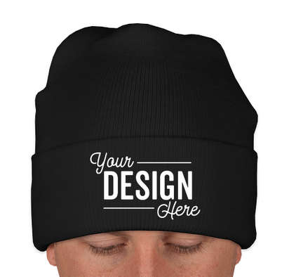 Yupoong Solid Cuff Beanie - Black
