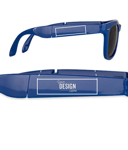 Foldable Sun Ray Sunglasses - Royal