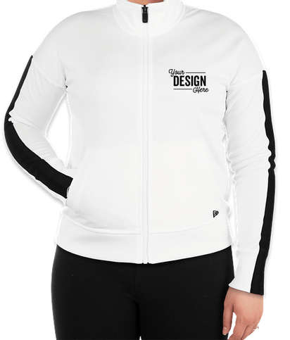 New Era Women's Track Jacket - White / Black
