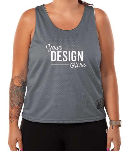 Augusta Women's Mesh Reversible Pinnie - Graphite / White