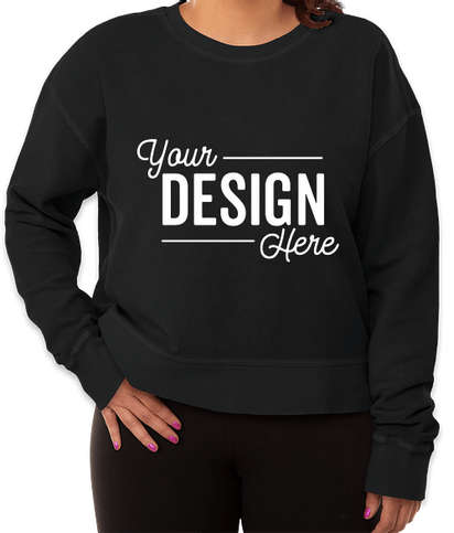 Charles River Women's Camden Cropped Crewneck Sweatshirt - Vintage Black