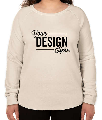 Independent Trading Women's California Wave Wash Crewneck Sweatshirt - Bone