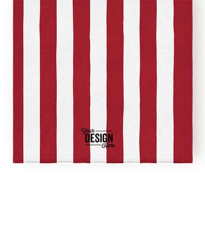 Port Authority Midweight Screenprinted Cabana Stripe Beach Towel - Red