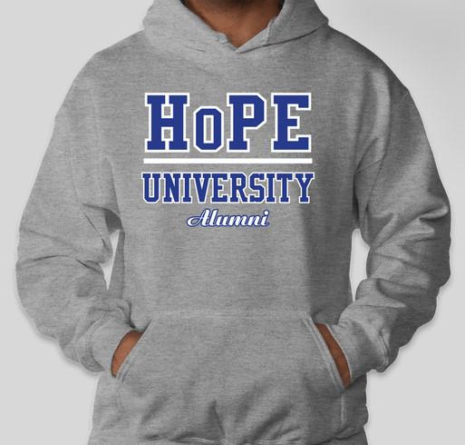 HoPE University Fundraiser - unisex shirt design - front