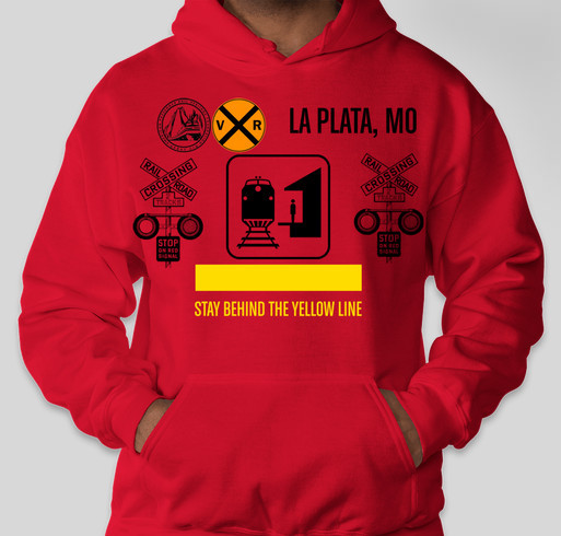 LaPlata Railroad Days Keith Thomas Tribute Hoodie Fundraiser - unisex shirt design - front