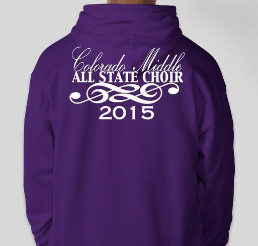 Colorado Middle All State Choir Fundraiser - unisex shirt design - back