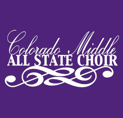 Colorado Middle All State Choir shirt design - zoomed