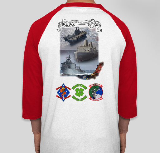13th Marine Expeditionary Unit Deployment T-Shirt 2013-14 Fundraiser - unisex shirt design - back