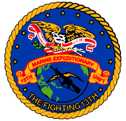 13th Marine Expeditionary Unit Deployment T-Shirt 2013-14 shirt design - zoomed