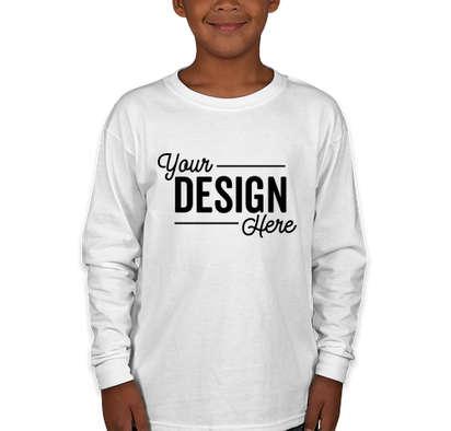 Canada - Gildan Youth Ultra Cotton Long Sleeve T-shirt - White