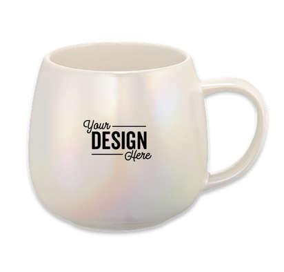 15 oz. Iridescent Ceramic Mug - White