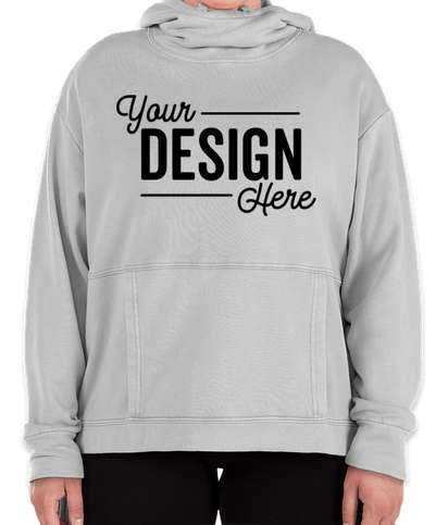 Charles River Women's Laconia Pullover Hoodie - Light Grey