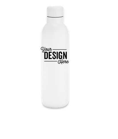 17 oz. Thor Matte Copper Vacuum Insulated Water Bottle - White