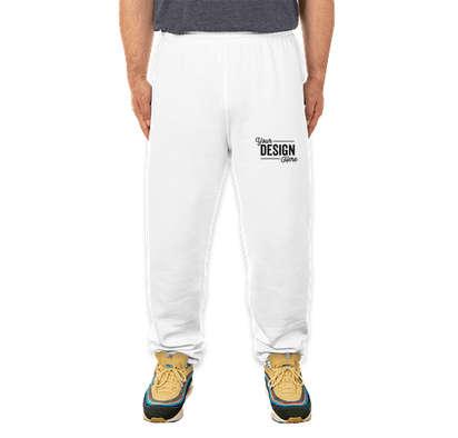 Soffe Closed Bottom Sweatpants - White