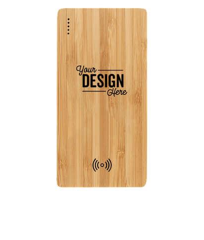 Laser Engraved Plank 5,000 mAh Bamboo Wireless Power Bank - Wood