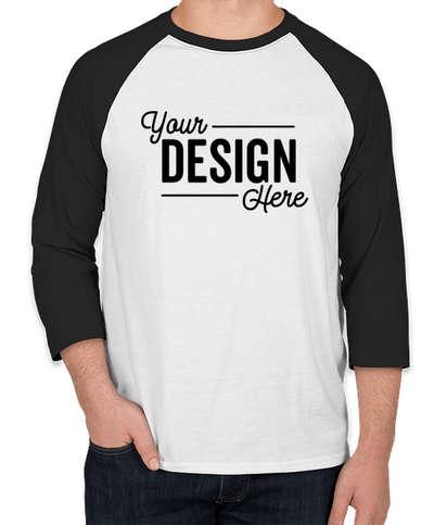 Hanes X-Temp Raglan T-shirt - White / Black