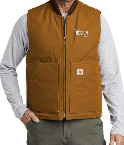 Carhartt Duck Traditional Vest - Carhartt Brown