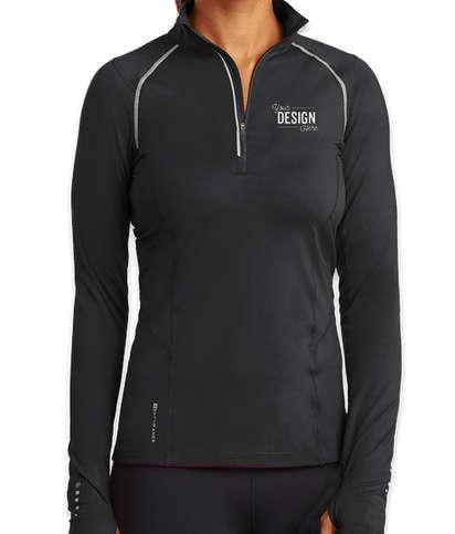 OGIO Endurance Women's Nexus Quarter Zip Performance Shirt - Blacktop