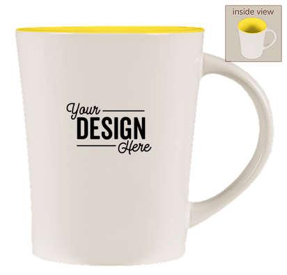 14 oz. Ceramic Two-Tone Citrus Mug - White / Yellow