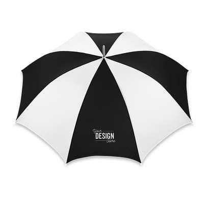 "60"" Palm Beach Golf Umbrella - White / Black"