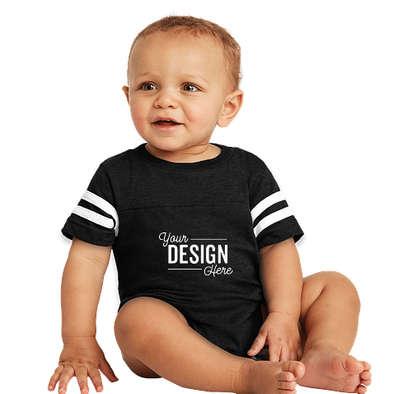 Rabbit Skins Varsity Baby Bodysuit - Black / White