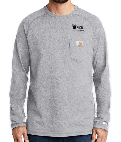 Carhartt Force Cotton Long Sleeve Pocket T-shirt - Heather Grey