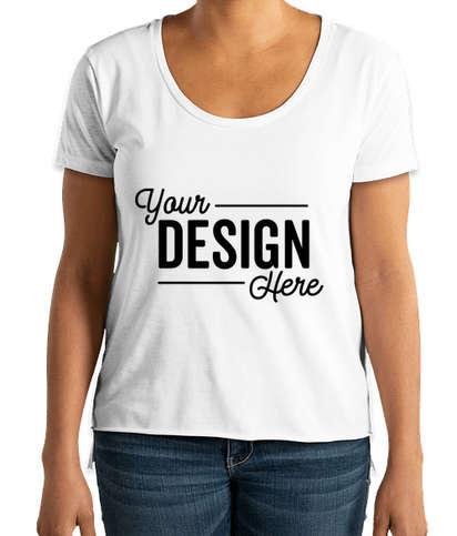 Next Level Women's Festival High-Low T-shirt - White