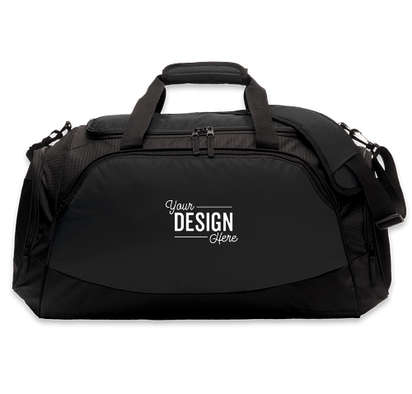 Port Authority Large Active Duffel Bag - Embroidered - Black / Black