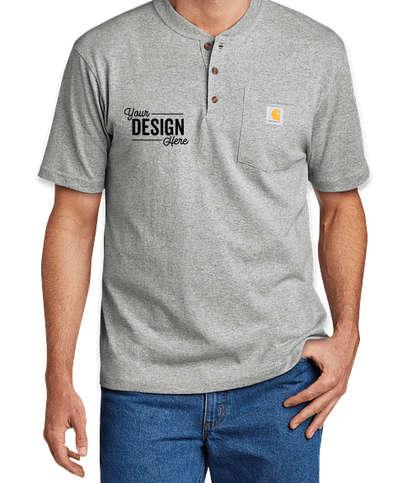 Carhartt Short Sleeve Henley Shirt - Heather Grey