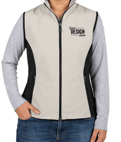 North End Women's Soft Shell Vest - Natural Stone