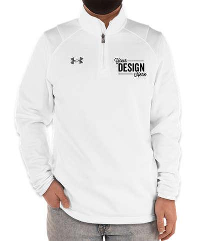 Under Armour Hustle Quarter Zip Pullover - White / Graphite