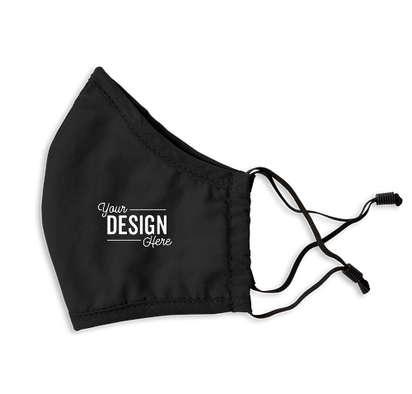 Customized Camo Woven Face Mask - Black