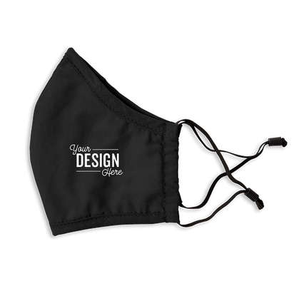 Customized Solid Woven Face Mask - Black