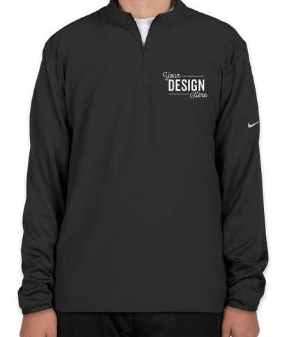 Nike Dri-FIT Lightweight Quarter Zip Pullover - Black / Black