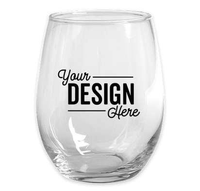 15 oz. Stemless Wine Glass - Clear