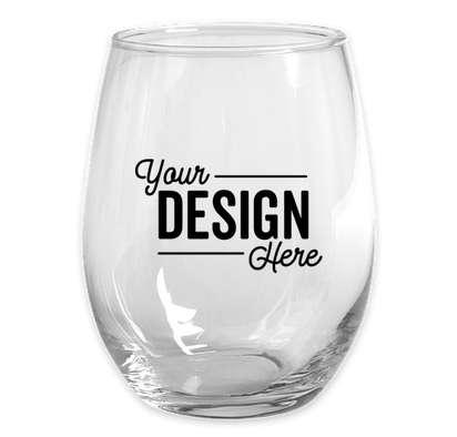 15 oz. Stemless Wine Glass (Set of 24) - Clear