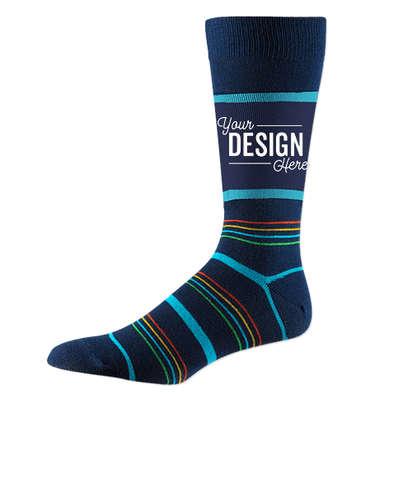 Business Crew Dress Socks - Navy Spectrum