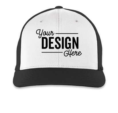 Pacific Headwear Perforated Flexfit Performance Hat - White / Black / Black
