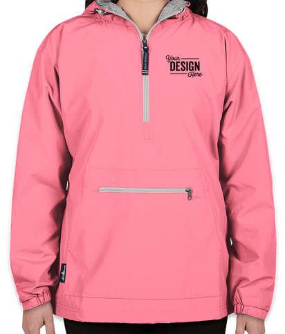 Charles River Women's Classic Hooded Anorak - Neon Pink