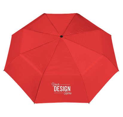 "42"" Arc Budget Solid Telescopic Folding Umbrella - Red"