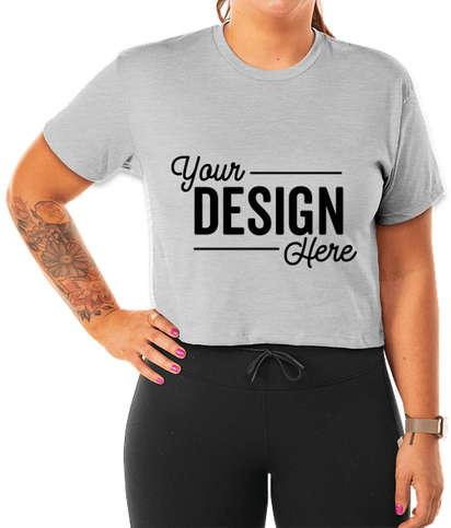 Next Level Women's Ideal Crop T-shirt - Heather Grey