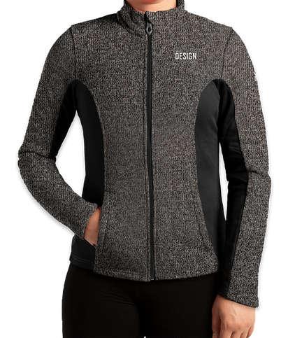 Spyder Women's Constant Sweater Fleece Jacket - Black Heather / Black