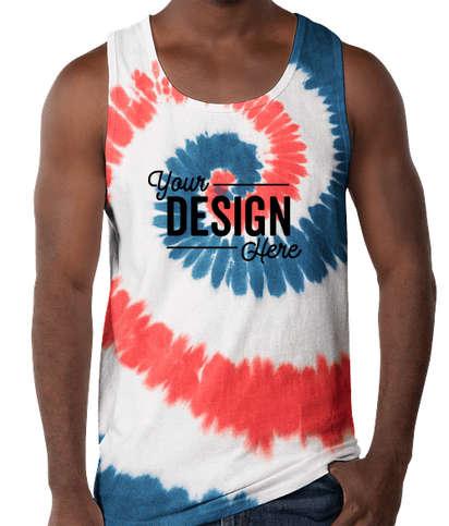 Port & Company Tie-Dye Tank  - USA Rainbow